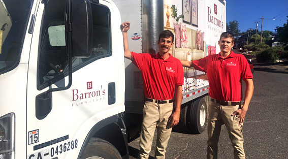 Barrons Furniture Delivery Service in Sutter Creek & Sonora CA
