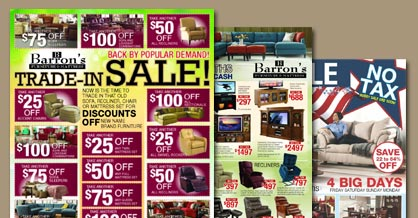 Barrons Furniture Specials and Sale